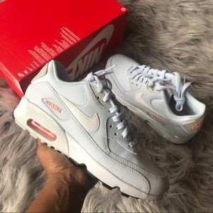 Nike Shoes - The Nike Air Max 90 Leather light blue size 8.5